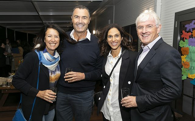 From left: Karen and Michael Gutman, Lauren Placks, Steven Lowy.