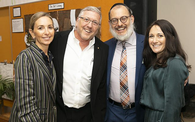 From left: Lauren and Bruce Fink, Rabbi Yehoshua and Rebbetzin Laya Smukler.