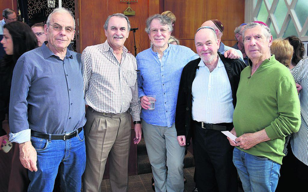 From left: Laurie Jaye, Abe Salomon, David Zwi, Harold Marshbaum, Olek Biber.