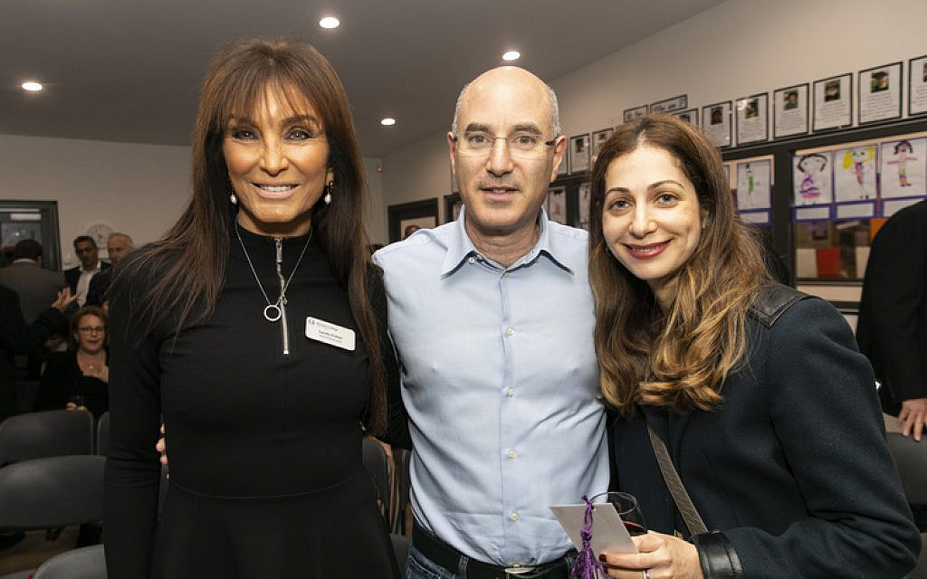 From left: Lynda Fisher, Martin and Ilana Moshal.