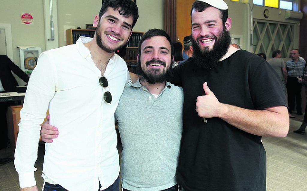 From left: Mendi Ashkenazi, David Feinberg, Dovy Straiton.