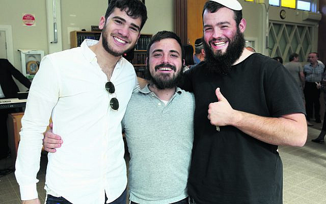 From left: Mendi Ashkenazi, David Feinberg, Dovy Straiton.
