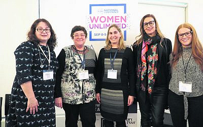 From left: Enza Sgroi, Professor Helen Forgasz, Dr Susan Wise, Lahra Carey, Chelsea Fisher.