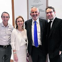 From left: Dave Sharma, Gabrielle Upton, Paul Lederer, Rabbi Levi Wolff.