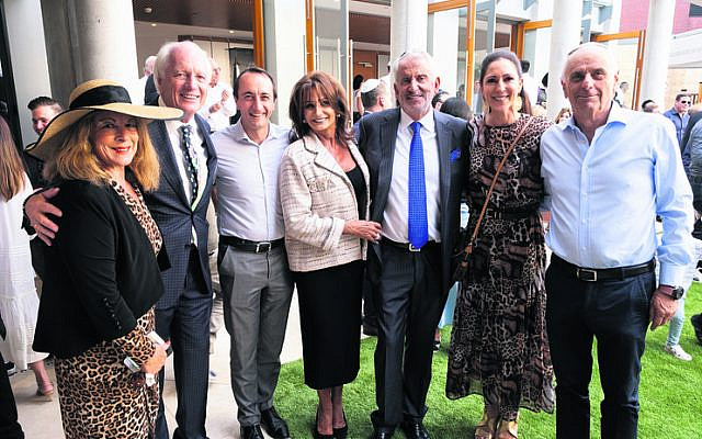 From left: Veronica and Shimon Farkas, Dave Sharma, Eva and Paul Lederer, Mimi Shifroni, Robert Whyte.