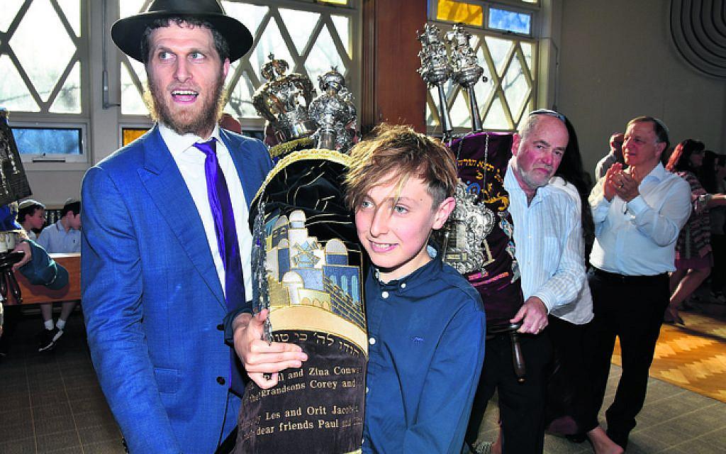 Rabbi Chaim Koncepolski (left), Corey Porter.
