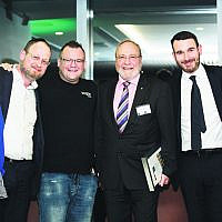 From left: Brian Berger, Rabbi Moshe Kahn, Ruslan Kogan, Morry Fraid, Zelman Ainsworth, Yehuda Gottlieb.