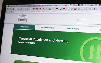 The homepage of the 2016 Census. Photo: AP Photo/Rick Rycroft