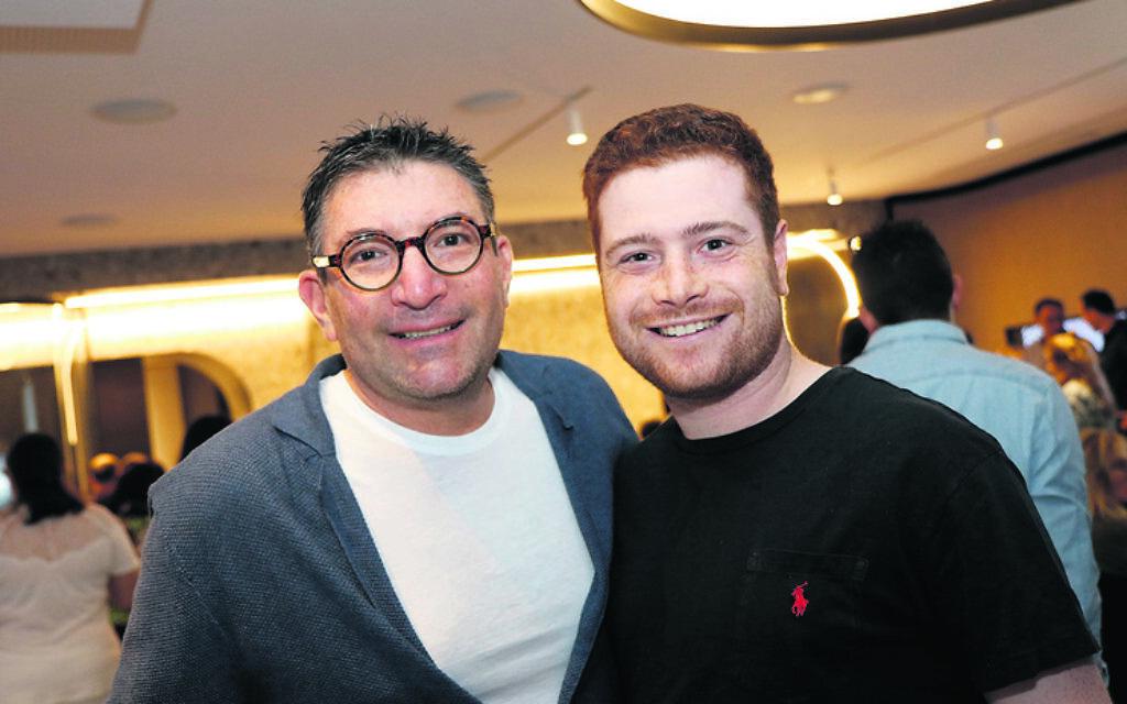 Russell Casper (left), Daniel Slomoi.