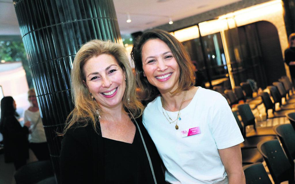 Elisa Justin (left), Ashleigh Pyke.