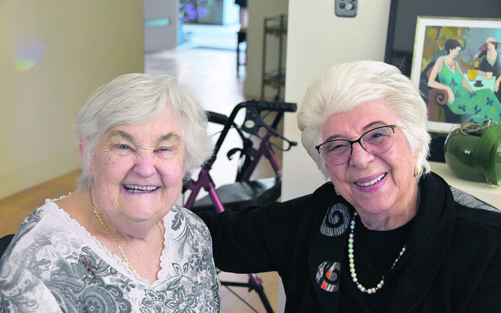 Yaffa Waksberg (left), Lily Zamel.