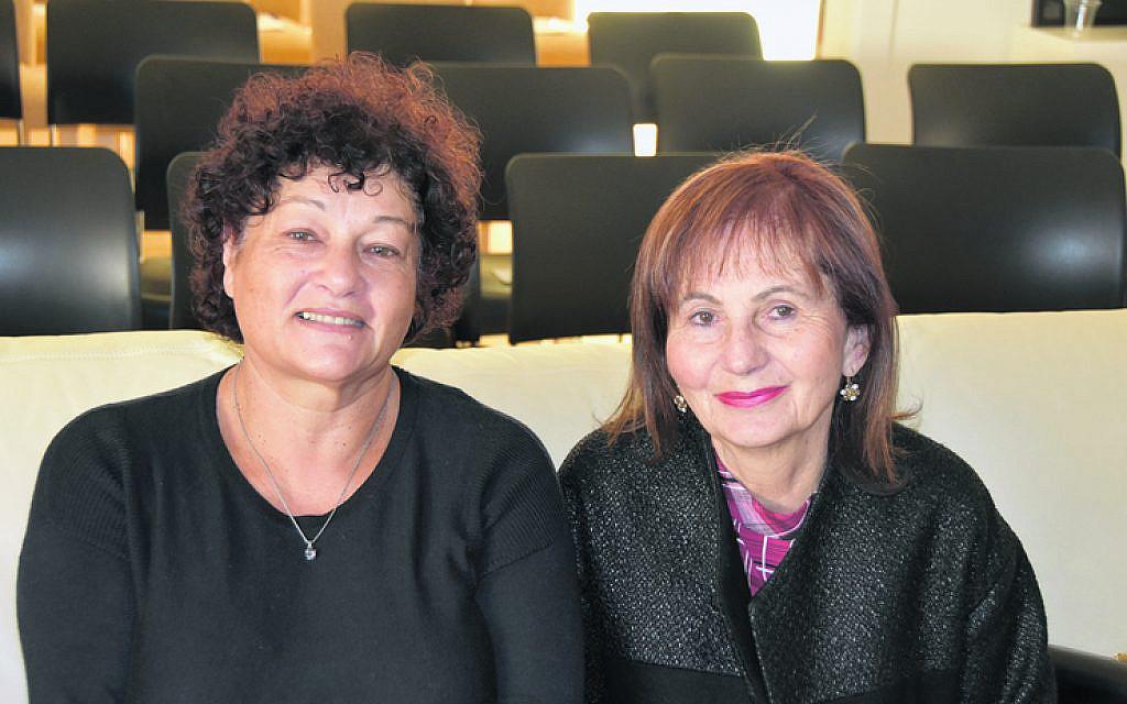 Miriam Kaufer (left), Goldie Kelmann.