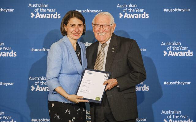 NSW Premier Gladys Berejiklian (left) and Eddie Jaku. Photo: Salty Dingo