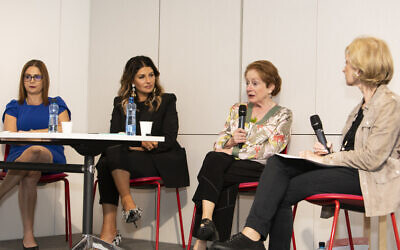 Professor Mona Khoury-Kassabri, Camilla Freeman-Topper, Margaret Stone and Jillian Segal shared their insights on Sunday. Photo: Nadine Saacks