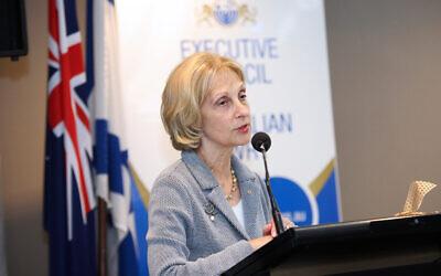 Jillian Segal speaking at the ECAJ conference. Photo: Peter Haskin