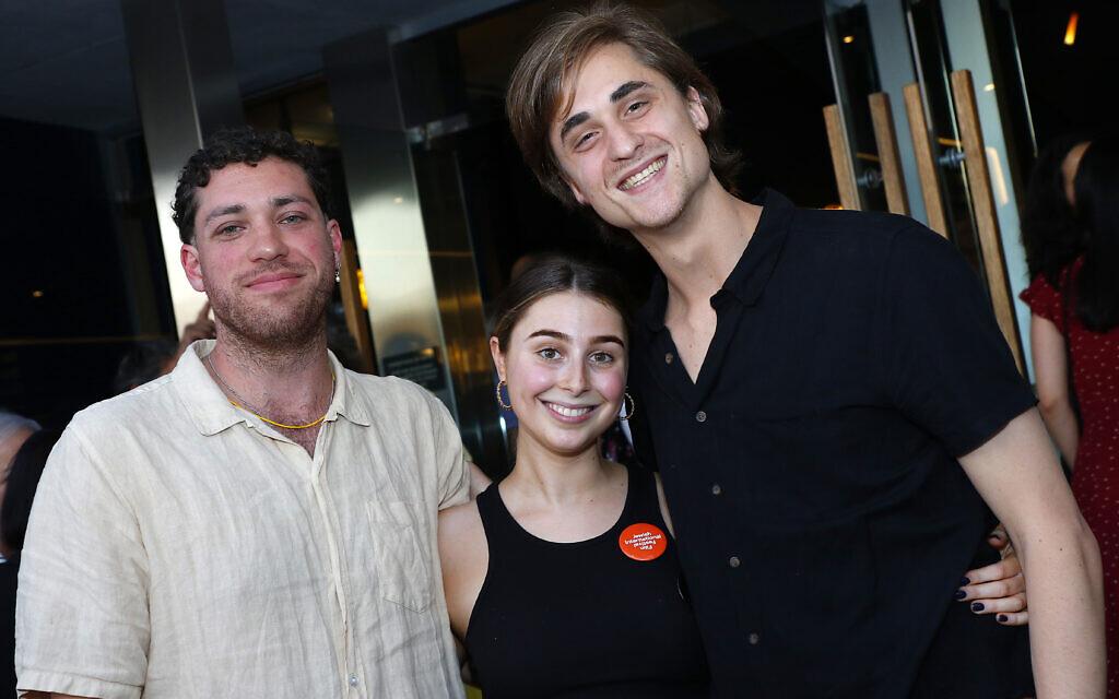 From left: Matt Howship-Burness, Ella Goldberg, Benji Tamir.