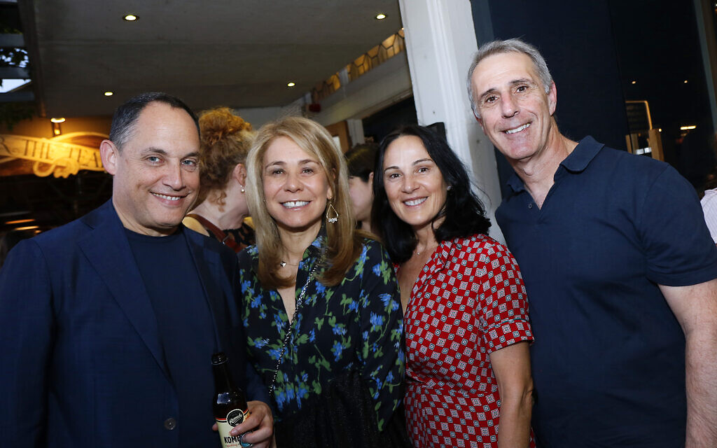 From left: Rapahel and Fiona Geminder, Debra and Ron Kiven.