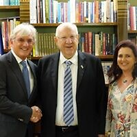 From left: Keren Hayesod-UIA World Board of Trustees chairman Steven Lowy, Reuven Rivlin and Judy Lowy.
