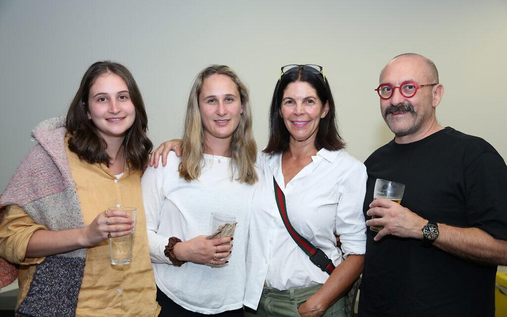 Julia and Cara Milwidsky, Brenda and Gary Berman.