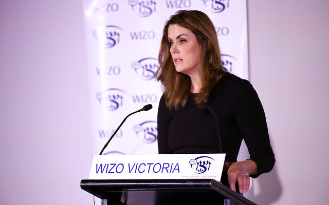 Peta Credlin addresses WIZO Victoria. Photo: Peter Haskin