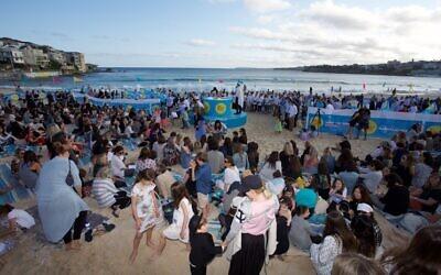 Kabbalat Shabbat at Bondi Beach in 2016.