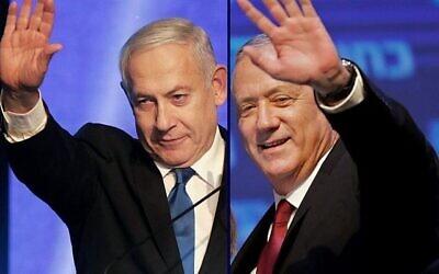 Benjamin Netanyahu (left) and Benny Gantz. Photos: Emmanuel Dunand and Menahem Kahana / AFP