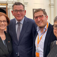 From left: Julia Gillard, Daniel Andrews, Rabbi Gabi Kaltmann and Jennifer Huppert.