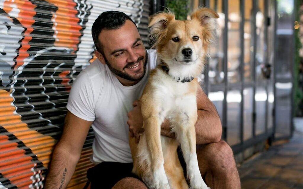 Ido Lazan with his beloved dog, Django.