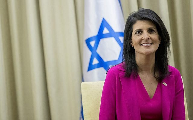 Nikki Haley is coming to Australia. Photo: Yonatan Sindel/Flash90