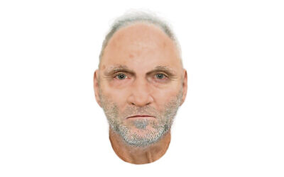 A computer-generated image of the man.