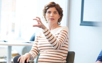 Tamar Zandberg speaking in Sydney. Photo: Giselle Haber