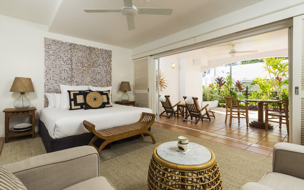 A verandah room at The Reef House.