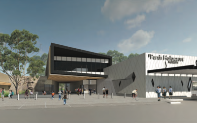 An artist's impression of the planned new Jewish community centre in Perth.