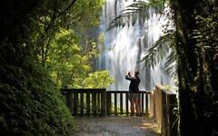 Jason Agatho at Marokopa Falls, New Zealand. Photo entered by Sharon Flitman.