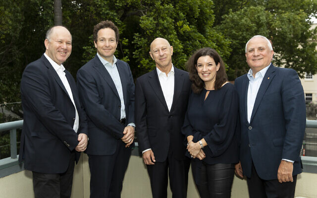 From left: Andrew Cohen, Daniel Goldberg, Richard Glass, Josephine Holland, Daniel Goulburn.