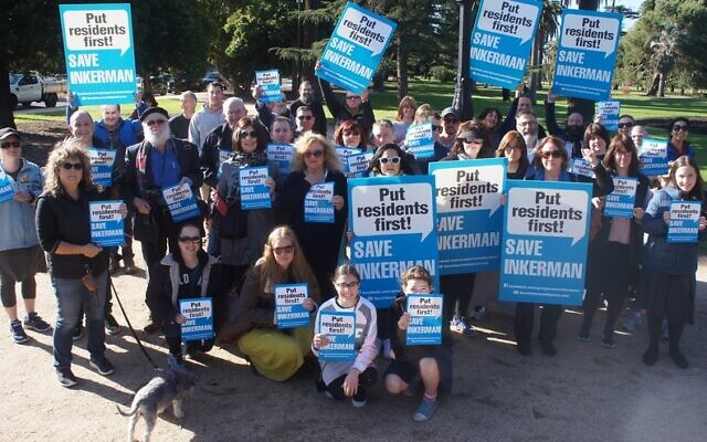 Save Inkerman campaigners earlier this year.