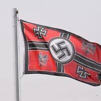 A Nazi flag seen in Victoria.