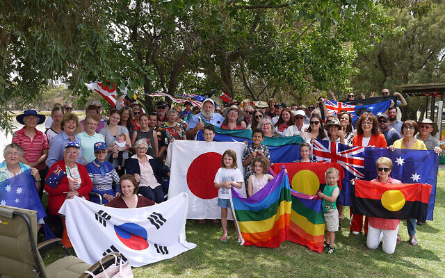 Beulah residents holding a gathering for diversity. Photo: AAP Image/Supplied by Megan Turnbull