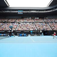 26-1-20. Australian Open 2020. Men's fourth round. Diego Schwartzman lost to world number 2 Novak Djokovic 3-6, 4-6, 4-6. Photo: Peter Haskin
