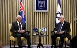 David Hurley meeting with Reuven Rivlin on Tuesday. Photo: Israel GPO