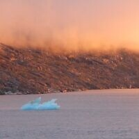 Sunset in Greenland, entered by Raymond Goodman.