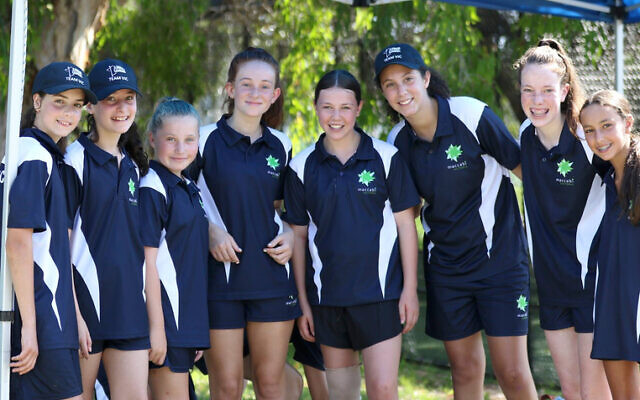 Members of Team Victoria at last year's Maccabi Junior Carnival. This year's carnival begins on January 21 in Perth.
