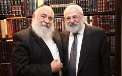Rabbi Yisroel Goldstein (left) with his brother-in-law, Rabbi Yehoram Ulman. Photo: Evan Zlatkis