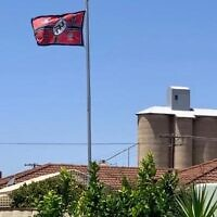 The Nazi flag flying above a house in Beulah.