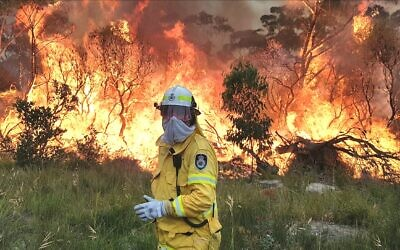 Noel Kessel battling a blaze. Photo: Courtesy, Noel Kessel