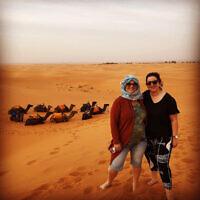 HOLIDAY FINALIST D: Sigal Witkin and daughter Amit in the Sahara desert, Morocco. Photo entered by Sigal Witkin.