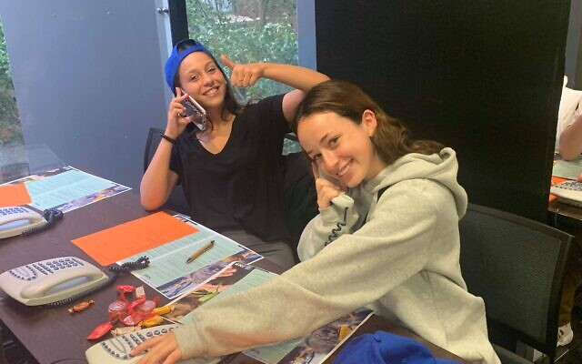 NSW volunteers making calls for JNF's Green Sunday. Victoria's appeal will be held this Sunday, February 16.