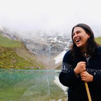 HOLIDAY FINALIST C: Ebony Erez at Lake Humantay, Peru. Photo entered by Elisa Gray.