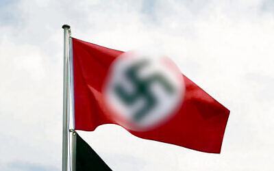 A Nazi flag similar to that flown at Robertson Oval in Wagga.