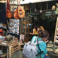 Shoshana Rothberg at a market stall in Yaffo, Israel.